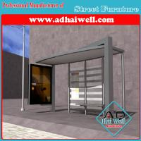 Buy cheap Glass Bus Stop Shelter from wholesalers