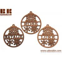 Buy cheap WOOD CHRISTMAS ORNAMENTS BLANKS ROUND to paint christmas decoration from wholesalers