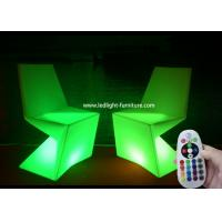 Diamond Shaped Lounge LED Light Furniture , Led Chairs And Tables For Bar