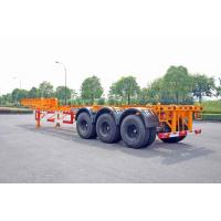 Buy cheap Steel Tank Container Trailer Chassis / 40 ft Gooseneck Trailer 3 Axles product
