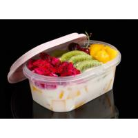 Buy cheap Lock Seal Takeaway PP Food Trays Oval Box Customized Color / Size from wholesalers