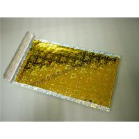 Buy cheap Heat Seal Gold Holographic Bubble Mailers 6X10 #0 Aluminum Foil Moisture Proof from wholesalers