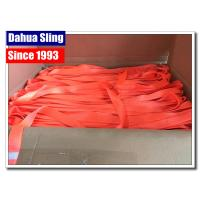 Buy cheap Orange 100 % Polyester Webbing Roll For Heavy Duty Lifting Sling from wholesalers