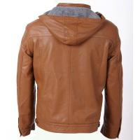 Buy cheap Size 54 XXXL autumn / winter fashionable Mens Hooded PU Leather Jackets personalized product