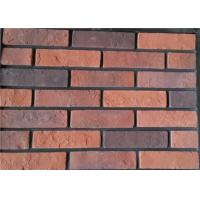 Buy cheap Steam - Crued Faux Brick Veneer Exterior Thickness 10-15mm With Cement / Pigment from wholesalers