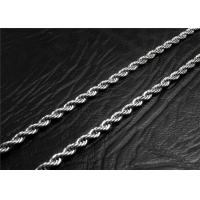 Buy cheap Mens Stainless Steel Necklace Chain With A Lobster Claw Clasp , Customized Length product