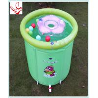 Buy cheap Barrel Shape Small Inflatable Baby Swimming Pools Phathalate Free from wholesalers