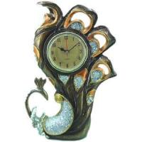 Buy cheap Resin Peacock Figurine With Clock (D22-11483B63) from wholesalers