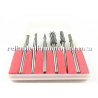 Buy cheap Double Cut Tungsten Solid Carbide Drill Bits Rotary Diamond Dental Burs Set 3mm Shank Fit Dremel from wholesalers