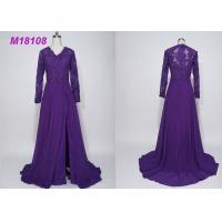 Buy cheap Women Purple Mother Of The Bride Dresses / Cloak Plus Size Mother Of The Bride Gowns from wholesalers