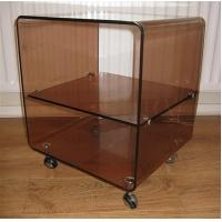 Buy cheap High Strength Perspex Restaurant Trolley/Acrylic Plexiglass Dining Car from wholesalers
