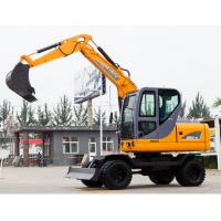 Buy cheap Mini wheel Excavator , Hydraulic Crawler Excavator Low Fuel Consumption from wholesalers