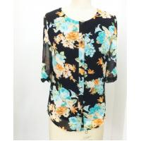 Buy cheap Beautiful summer round neck ladies casual shirt , floral print shirt for women from wholesalers