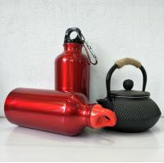 Buy cheap Single wall BPA free sample 750ml /1 L big metal water bottle sports aluminium bottle from wholesalers
