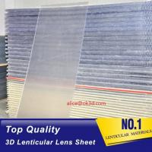 Buy cheap 70LPI PET 0.9MM 60X80CM Lenticular Plastic lens for 3d lenticular printing by injekt print and UV offset print product