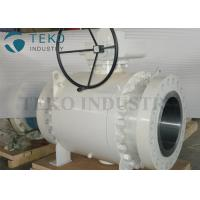 Buy cheap Worm Gear Operated Flanged Ball Valve  /  Trunnion Mounted Three Piece Ball Valve 150~2500Lb from wholesalers