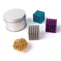 Buy cheap Colorful Coating Custom Neodymium Magnets , N35 Bucky Toy Neodymium Sphere Magnet from wholesalers