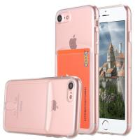 Buy cheap Pink Ultra Slim Thin Apple Cell Phone Cases Crystal TPU With Card Slot SGS from wholesalers