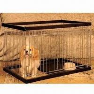 China Metal Dog Cage, Black Color, Medium Size, Woody Circle on sale