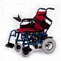 Buy cheap Durable Aluminum Indoor Electric Wheelchair Hire OEM ODM With Red Cushion from wholesalers