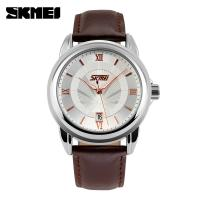 Buy cheap Mens Golden Analog Quartz Watches Japan Movt With Calendar from wholesalers
