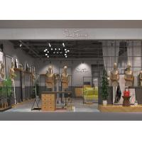 Buy cheap Modern Women's Dressing Clothing Store Display Fixtures Iron And Wood Material from wholesalers