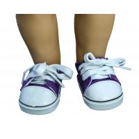 China Purple Canvas Doll Sneakers New Style Sports Doll Shoes for American Girl Dolls on sale