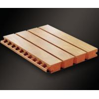 Buy cheap Fire-rated Sound Absorb Grooved Wood Acoustic Wall Panel For Meeting Room from wholesalers