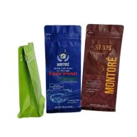 Buy cheap Glossy Surface Tea Bags Packaging 250g Coffee Bags Flat Bottom Box Pouch Heat Seal from wholesalers