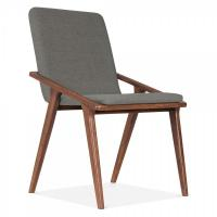 Buy cheap Walnut wood Hotel Guestroom desk chair with fabric upholstered chairs from wholesalers
