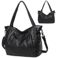 Buy cheap Ready To Ship:  Women Shoulder Bags PU Leather Sling Tote Handbag,Braided Woven Handle Black From China Supplier from wholesalers