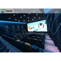 Buy cheap Special Effect  4D Cinema Equipment 120 People Electric System Motion Chairs Black Color product