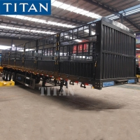Buy cheap 4 Axle 50 Tons Livestock Fence Semi Trailer for Sale in Sudan from wholesalers