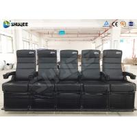 Buy cheap Luxury Motion Chair 5 Seats 4D Cinema System With Spray Air / Vibration product