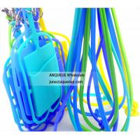 Buy cheap ANQUEUE NEW OEM silicone credit card holder wallet /smart phone card wallet with lanyard from wholesalers