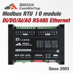 Buy cheap DIN Rail Mounting Modbus RTU IO Module Analog Digital Input Output SCADA product