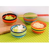 Buy cheap 4.5 Rainbow Color Kitchen Ceramic Bowls Microwave For Rice Storage Food Grade from wholesalers