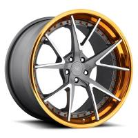 Buy cheap For Audi RS6 18 21 22 inch Alloy Gold Machined Face 3 Piece Forged Wheel Rims from wholesalers