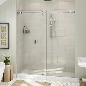 China Top Roller Bathroom Sliding Glass Door Frameless Shower Enclosure on sale