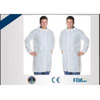 Buy cheap Eco Friendly Disposable Polypropylene Lab Coat For Medical Staff Protection from wholesalers