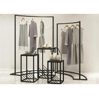Buy cheap Customized Metal Black Retail Shop Display Stands , Flooring Clothing Store Shelves from wholesalers
