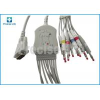 Buy cheap Schiller One piece type 10 lead EKG cable with banana 4.0 plug TPU cable for ECG machine from wholesalers