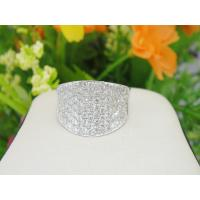Buy cheap 925 Sterling Silver Handmade Jewelry Pave Setting Engagement Ring Size 6 from wholesalers