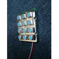Buy cheap IP65 waterproof metallic die cast blue led 5V voltage illuminated numeric keypads with male pin out connector from wholesalers