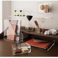 Buy cheap Transparent desk top Acrylic Storage Boxes Light weight for office product