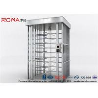 Buy cheap Deluxe Automatic Full Height Turnstile  Pedestrian System Parking Facilities Rotating Gate With 304# Stainless Steel product