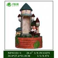 Buy cheap Resin Led Lights Garden Gnome Water Fountain from wholesalers