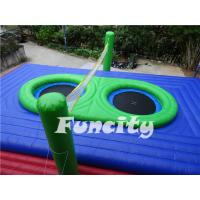 Buy cheap 0.55mm PVC Tarpaulin Colorful Inflatable Sport Games For Inflatable Volleyball Court from wholesalers