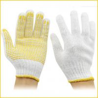 Buy cheap PVC dotted cotton gloves with rubber dimples for construction from wholesalers