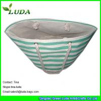Buy cheap LUDA cute lady striped summer handbags paper straw foldable shopping bags from wholesalers
